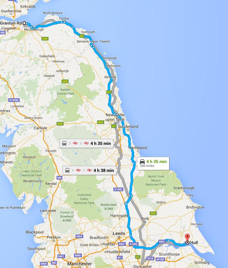 Edinburgh to hull Edinburgh removals