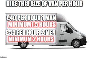Hire Man Van Edinburgh Hourly rate costs