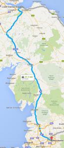 Man and van Edinburgh to Manchester map