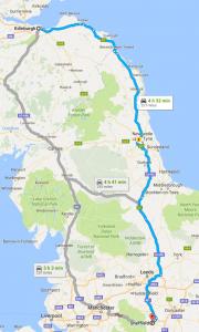 Edinburgh to Sheffield removals van man map