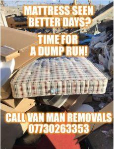 Bed mattress disposal upliftl Edinburgh